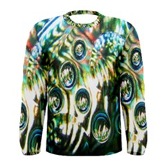 Dark Abstract Bubbles Men s Long Sleeve Tee