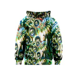 Dark Abstract Bubbles Kids  Pullover Hoodie
