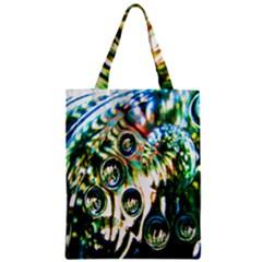 Dark Abstract Bubbles Zipper Classic Tote Bag