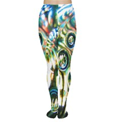 Dark Abstract Bubbles Women s Tights