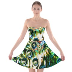 Dark Abstract Bubbles Strapless Bra Top Dress