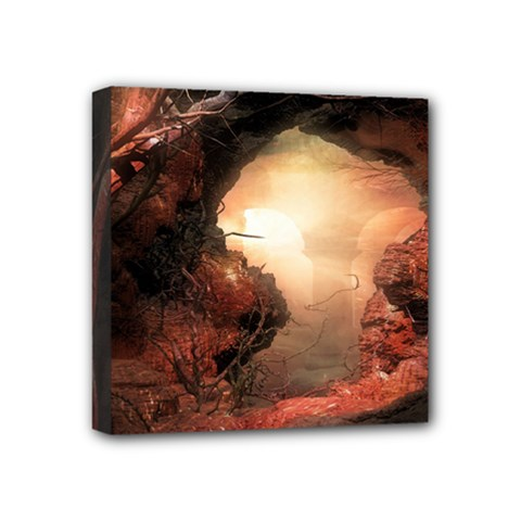 3d Illustration Of A Mysterious Place Mini Canvas 4  x 4