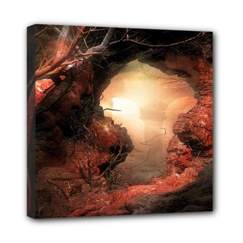 3d Illustration Of A Mysterious Place Mini Canvas 8  x 8