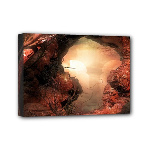 3d Illustration Of A Mysterious Place Mini Canvas 7  x 5