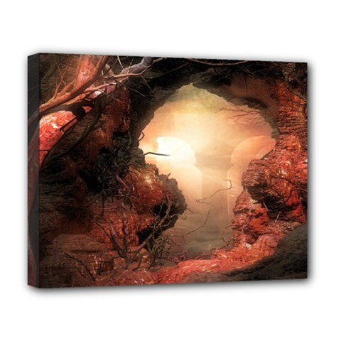 3d Illustration Of A Mysterious Place Deluxe Canvas 20  x 16