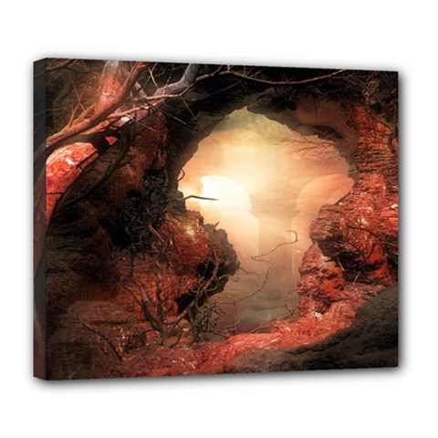 3d Illustration Of A Mysterious Place Deluxe Canvas 24  x 20