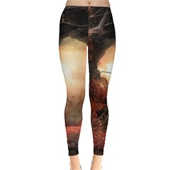 3d Illustration Of A Mysterious Place Leggings