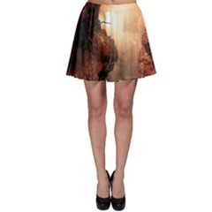 3d Illustration Of A Mysterious Place Skater Skirt