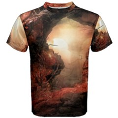 3d Illustration Of A Mysterious Place Men s Cotton Tee
