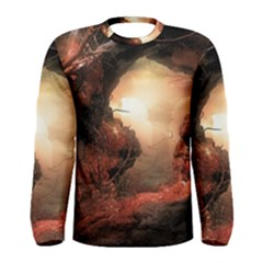 3d Illustration Of A Mysterious Place Men s Long Sleeve Tee