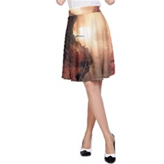 3d Illustration Of A Mysterious Place A-Line Skirt