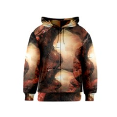3d Illustration Of A Mysterious Place Kids  Zipper Hoodie