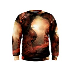 3d Illustration Of A Mysterious Place Kids  Sweatshirt