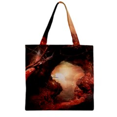 3d Illustration Of A Mysterious Place Zipper Grocery Tote Bag