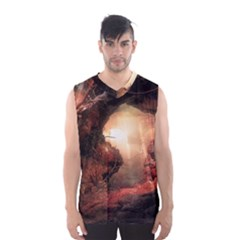 3d Illustration Of A Mysterious Place Men s Basketball Tank Top