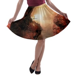 3d Illustration Of A Mysterious Place A Line Skater Skirt