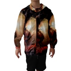 3d Illustration Of A Mysterious Place Hooded Wind Breaker (Kids)