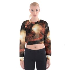 3d Illustration Of A Mysterious Place Cropped Sweatshirt