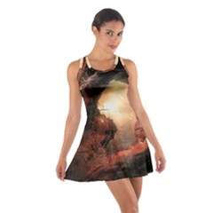 3d Illustration Of A Mysterious Place Cotton Racerback Dress