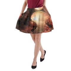 3d Illustration Of A Mysterious Place A Line Pocket Skirt