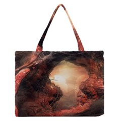 3d Illustration Of A Mysterious Place Medium Zipper Tote Bag