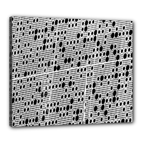 Metal Background With Round Holes Canvas 24  x 20