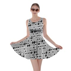 Metal Background With Round Holes Skater Dress