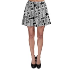 Metal Background With Round Holes Skater Skirt