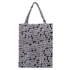 Metal Background With Round Holes Classic Tote Bag