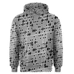 Metal Background With Round Holes Men s Pullover Hoodie
