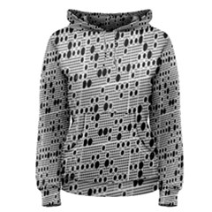 Metal Background With Round Holes Women s Pullover Hoodie
