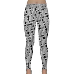 Metal Background With Round Holes Classic Yoga Leggings