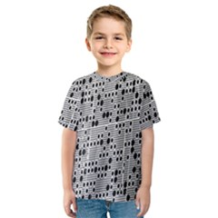Metal Background With Round Holes Kids  Sport Mesh Tee