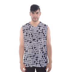 Metal Background With Round Holes Men s Basketball Tank Top