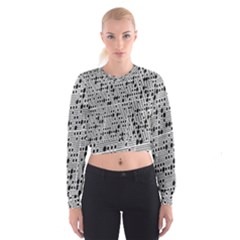 Metal Background With Round Holes Cropped Sweatshirt