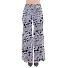 Metal Background With Round Holes Pants