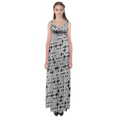 Metal Background With Round Holes Empire Waist Maxi Dress