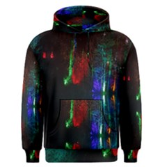 Illuminated Trees At Night Near Lake Men s Pullover Hoodie