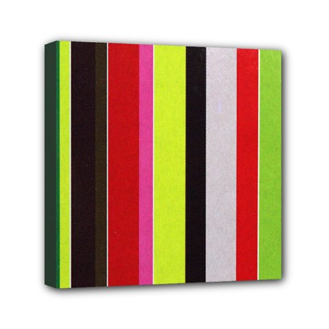 Stripe Background Mini Canvas 6  x 6