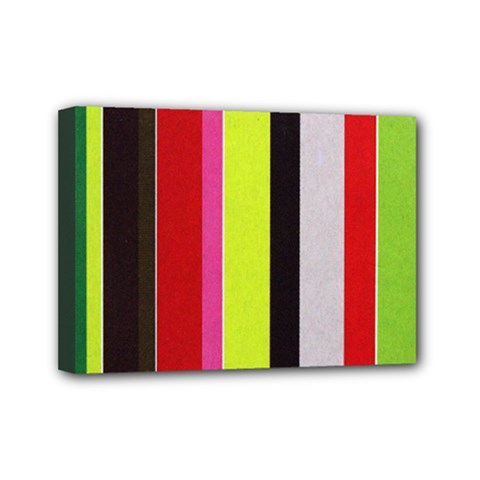 Stripe Background Mini Canvas 7  x 5