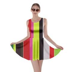 Stripe Background Skater Dress
