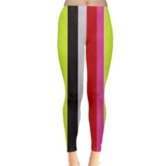 Stripe Background Leggings