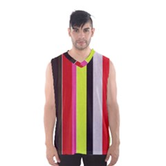 Stripe Background Men s Basketball Tank Top
