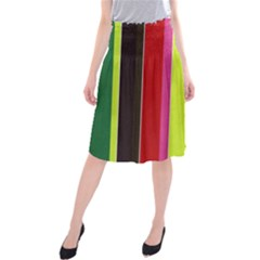 Stripe Background Midi Beach Skirt
