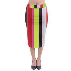 Stripe Background Midi Pencil Skirt