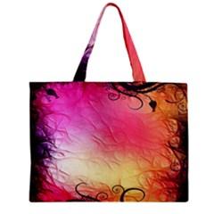 Floral Frame Surrealistic Mini Tote Bag