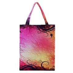 Floral Frame Surrealistic Classic Tote Bag