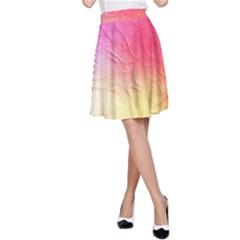 Floral Frame Surrealistic A Line Skirt