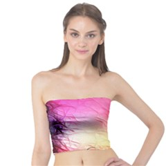 Floral Frame Surrealistic Tube Top