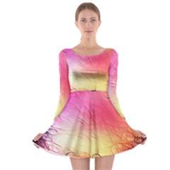 Floral Frame Surrealistic Long Sleeve Skater Dress